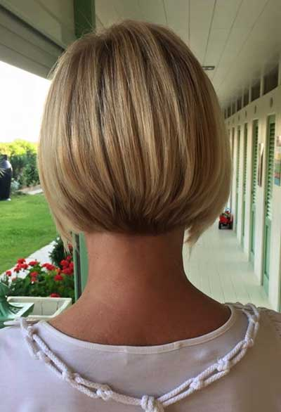 short aline bob back view