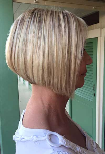 short aline bob side view