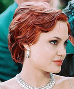 Angelina Jolie short red hair