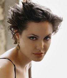 Angelina Jolie short spiky hair
