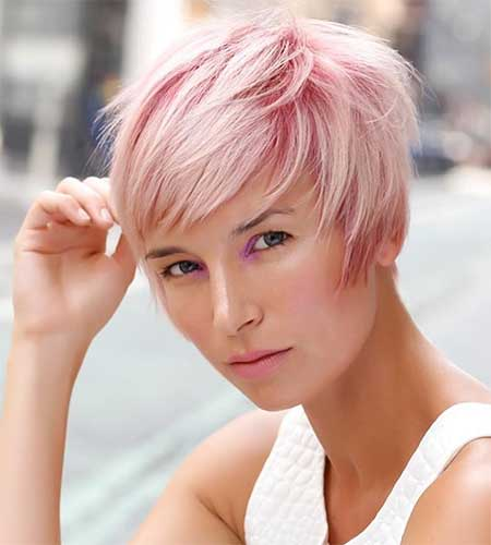 Balayage hair color in pink tonality