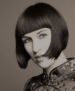 1960's bob cut re-created