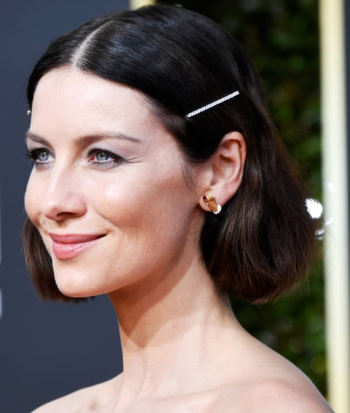decorated bobypin Caitriona Balfe on bob hairstyle