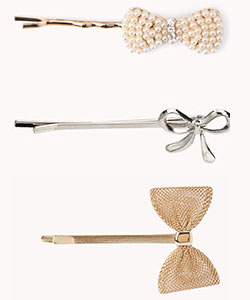 bow hair pin samples from forever21