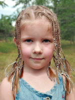 micro braided hair for kids