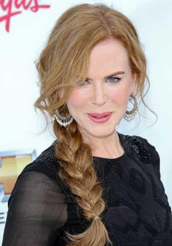 Nicole Kidman with simple braid