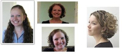 curly hair model - above shoulder short