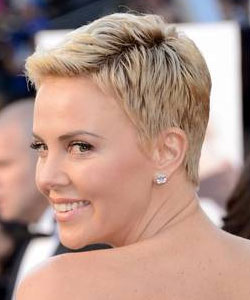 Swell Charlize Theron With Short Hair Short Hairstyles For Black Women Fulllsitofus