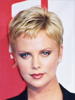 charlize theron very short hair انواع مدل مو