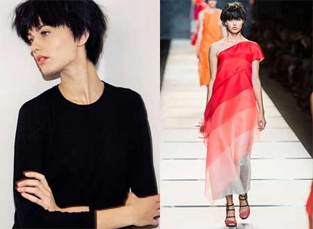 On Catwalk Trend With Short Hair
