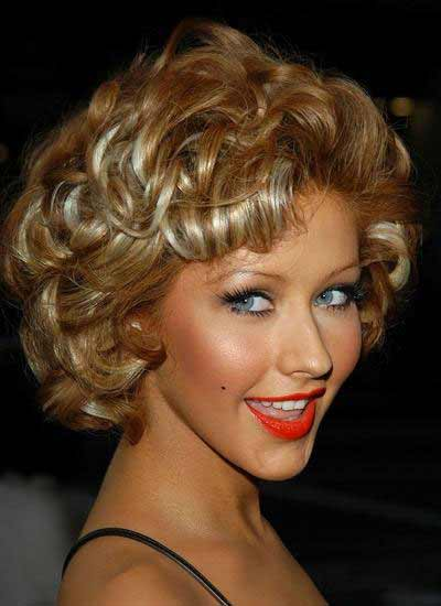 Christina With Short Curly Hair
