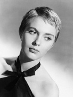 Jean Seberg with short hair cut