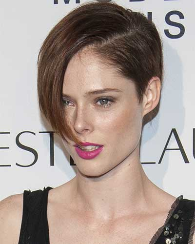 coco rocha with long fringe