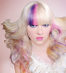 creative hair color model by eufora