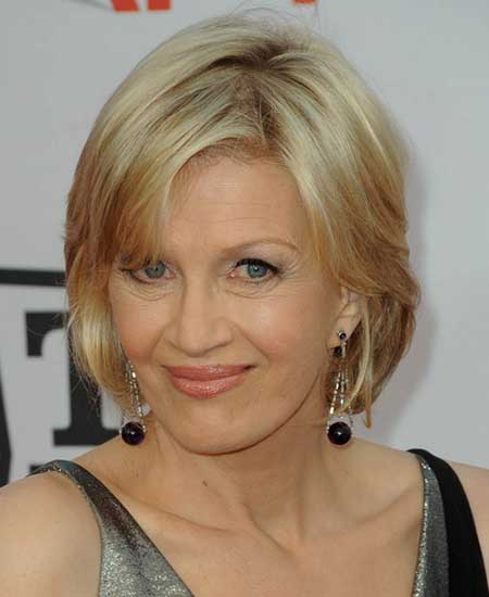 Diane Sawyer, casual, soft volume and sexy
