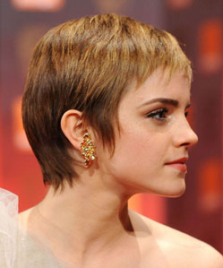 Emma watson pixie haircut side view
