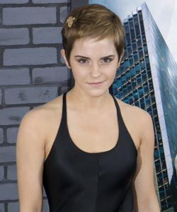 Emma watson with short hair front view