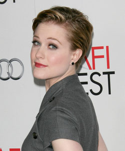 short hair - Evan Rachel Wood - side view