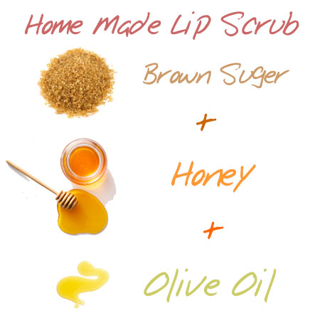 Gentle home made exfoliate for lip