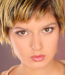 woman face wth short haircut
