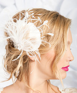 Feather Fascinator from designer Tessa Kim