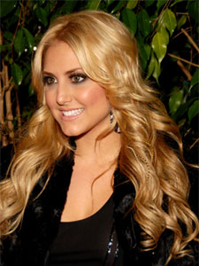 Cassie Scerbo with feather extension