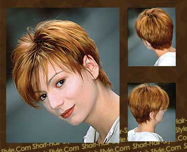 short fine hair with red color
