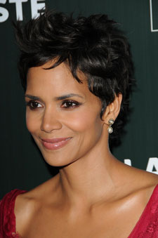 Halle Berry short hair side view
