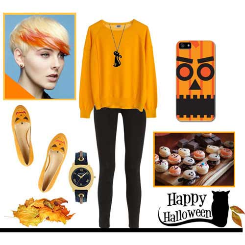 Orange Top to Toe for Fashion Halloween