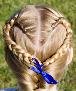 large view heart braid
