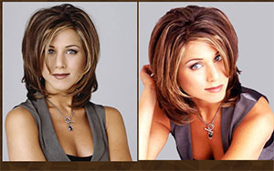 Jeniffer aniston's famous haircut from 90s