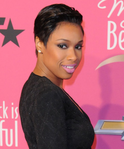 Jennifer Hudson short sleek pixie hair side view