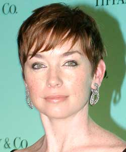 Julianne Nicholson with short wispy bangs as example for easy to manage hair