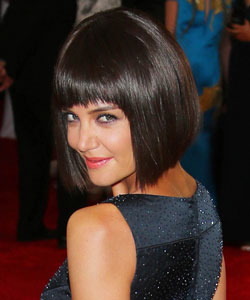Katie Holmes with wig
