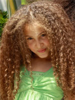 little girl with super coil curls