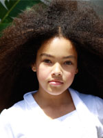 kid with very kinky hair