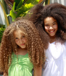 kids with kinky afro hair style