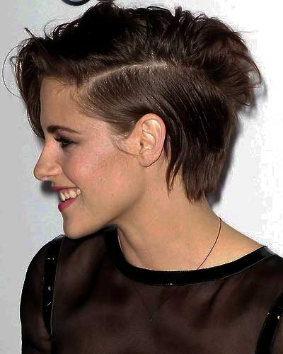 profile view of haircut shows side part