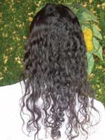 Long curly hair back view