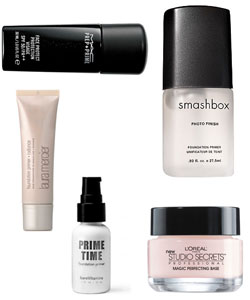 several types of makeup primers
