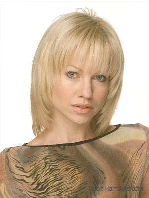 straight medium-length bob with full bangs