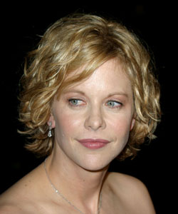 Meg Ryan curly hair in 2003 - October 16