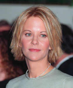Meg Ryan with shaggy style