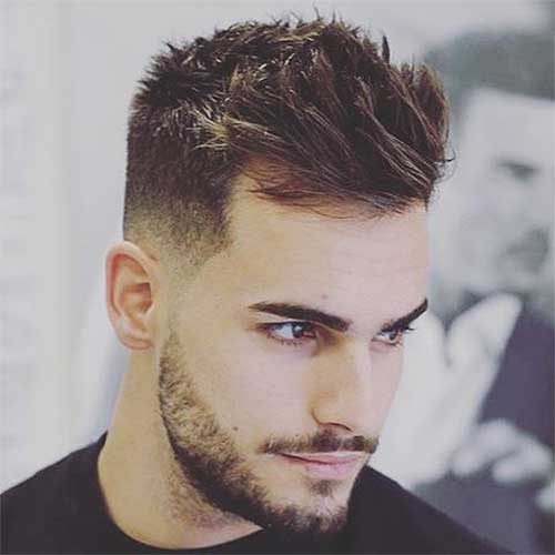 men haircut with spiky style
