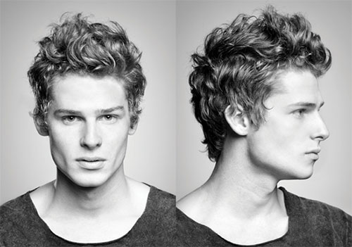 men hairstyle for natural wavy hair