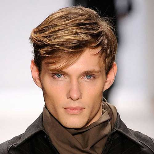 men hairstyle with added fringe or bangs