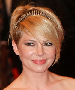 Michelle Williams with golden headband June 2013