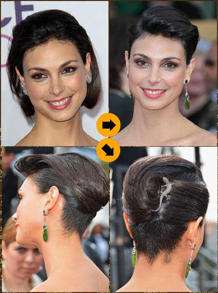 Updos For Short Hair A Few Inches Of Pure Glamour