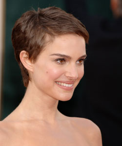 Natalie Portman post-V for Vendetta have their cheekbones on display