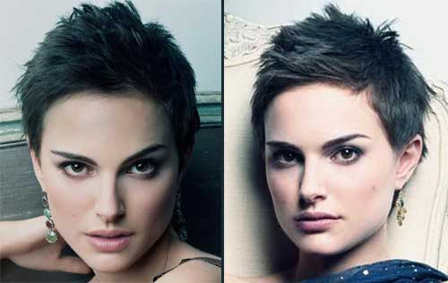 Natalie Portman with super short hair